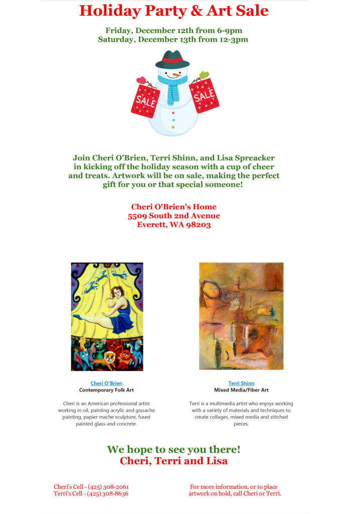 Please Join Us For A Holiday Party & Art Show PDF